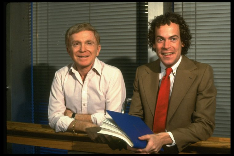 Portrait of Mark Bramble and Michael Stewart co-writers of the book for musical 42nd Street